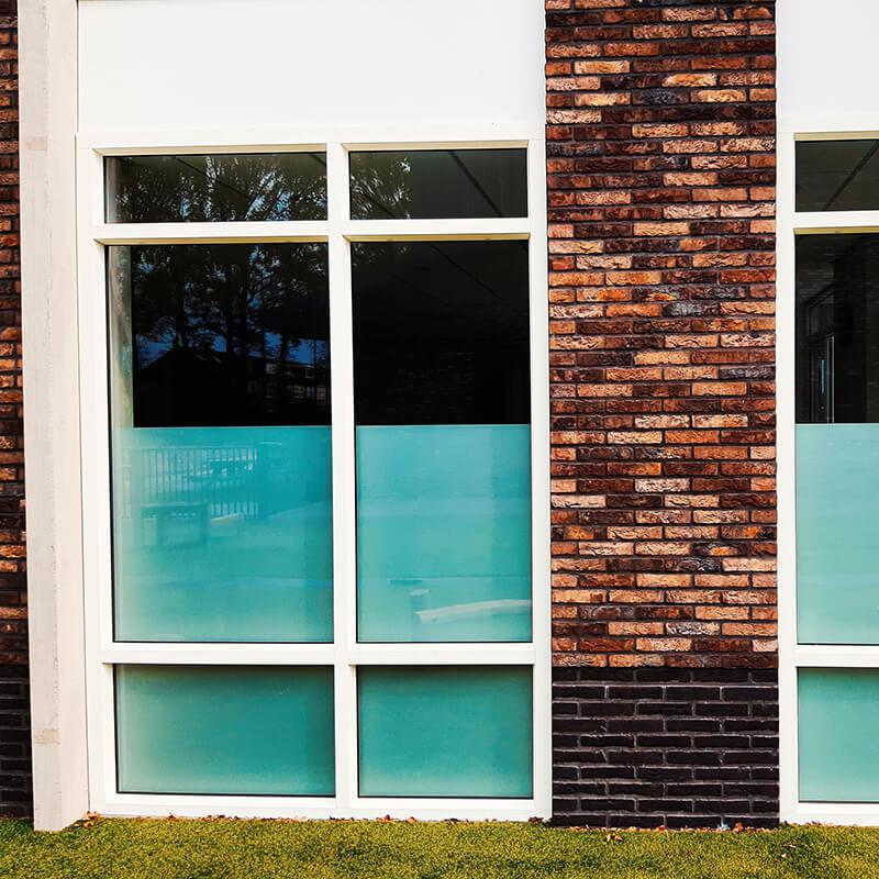 Melkglas folie voor gebouwen